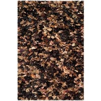 Safavieh Handmade Decorative Rio Shag Brown/ Multi Area Rug - 4' x 6'