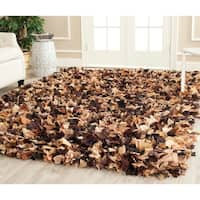 Safavieh Handmade Decorative Rio Shag Brown/ Multi Area Rug - 6' x 9'