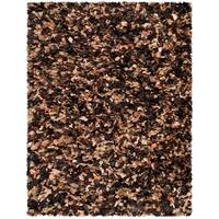 Safavieh Handmade Decorative Rio Shag Brown/ Multi Area Rug - 8' x 10'