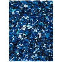 Safavieh Handmade Decorative Rio Shag Blue/ Multi Area Rug - 4' x 6'