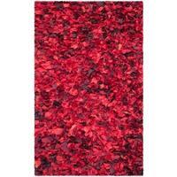 Safavieh Handmade Decorative Rio Shag Red/ Multi Area Rug - 4' x 6'