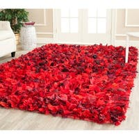 Safavieh Handmade Decorative Rio Shag Red/ Multi Area Rug - 5' x 8'
