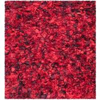 Safavieh Handmade Decorative Rio Shag Red/ Multi Rug - 8' x 8' Square