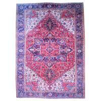 Handmade Herat Oriental Persian 1950s Semi-antique Heriz Wool Rug (Iran) - 11'4 x 16'