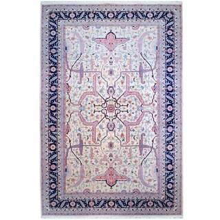 Herat Oriental Indo Hand-knotted Heriz Wool Rug (12' x 18'3)