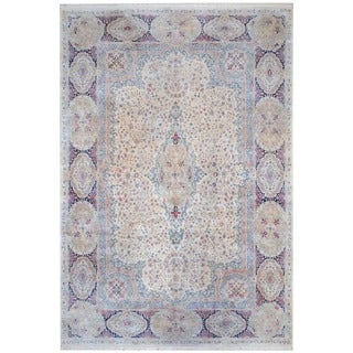 Herat Oriental Antique Persian Hand-knotted 1950s Kerman Wool Area Rug (11'10 x 17'8)