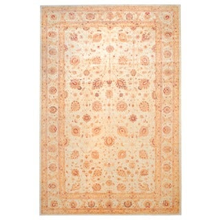 Herat Oriental Afghan Hand-knotted Vegetable Dye Wool Rug (12'6 x 18'10)