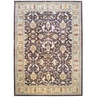 Herat Oriental Afghan Hand-knotted Vegetable Dye Wool Rug (12'9 x 17'7)