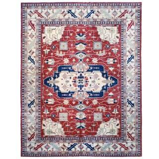 Herat Oriental Afghan Hand-knotted Kazak Wool Rug (11'10 x 15')