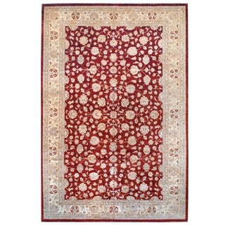 Herat Oriental Afghan Hand-knotted Vegetable Dye Wool Rug (12' x 18')