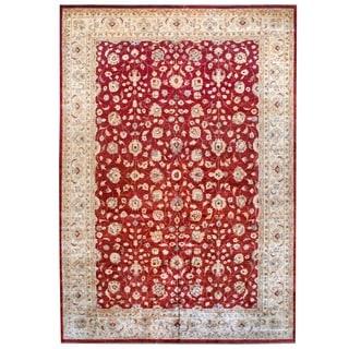 Herat Oriental Afghan Hand-knotted Vegetable Dye Wool Rug (12' x 17'3)