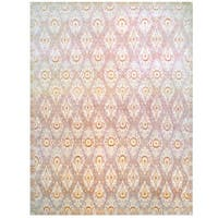 Herat Oriental Afghan Hand-knotted Vegetable Dye Ikat Design Wool Rug - 11'9 x 15'