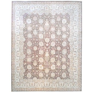 Herat Oriental Afghan Hand-knotted Vegetable Dye Wool Rug (11'9 x 14'10)