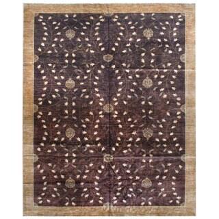 Herat Oriental Afghan Hand-knotted Vegetable Dye Wool Rug (12' x 14'10)