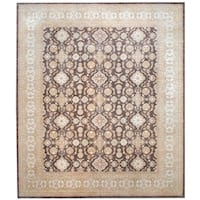 Herat Oriental Afghan Hand-knotted Vegetable Dye Wool Rug (12'1 x 14'2)
