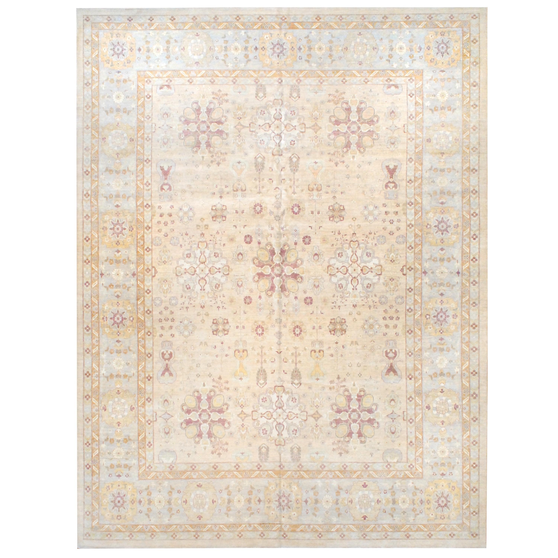 Handmade Herat Oriental Afghan Vegetable Dye Wool Rug (Afghanistan) - 122 x 161 (Beige/Ivory - 122 x 161)