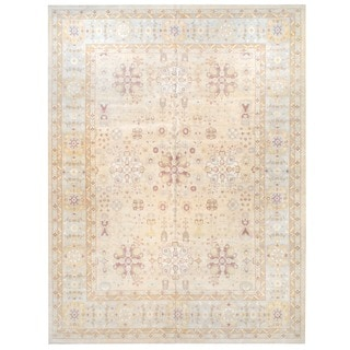 Herat Oriental Afghan Hand-knotted Vegetable Dye Wool Rug (12'2 x 16'1)