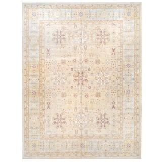 Herat Oriental Afghan Hand-knotted Vegetable Dye Wool Rug (12'2 x 16'1)