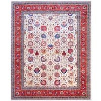 Herat Oriental Afghan Hand-Knotted Vegetable Dye Wool Area Rug (12' x 14'8)