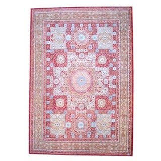 Herat Oriental Afghan Hand-knotted Mamluk Wool Rug (12'2 x 17'5)