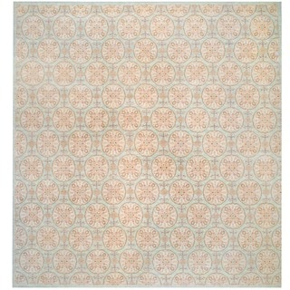 Herat Oriental Afghan Hand-knotted Vegetable-dyed Wool Rug (14'10 x 15'7)