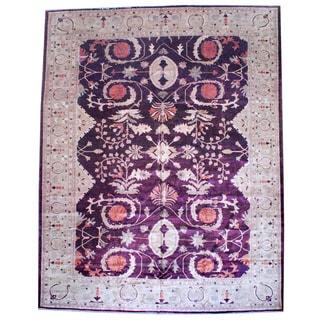 Herat Oriental Afghan Hand-knotted Vegetable Dye Wool Area Rug (13'2 x 17'9)