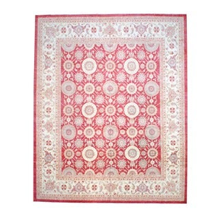 Herat Oriental Afghan Hand-knotted Vegetable-dyed Wool Rug (12' x 14'9)