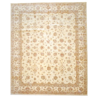 Herat Oriental Afghan Hand-knotted Vegetable-dyed Wool Rug (11'10 x 14'4)