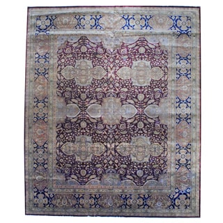 Herat Oriental Indo Hand-knotted Vegetable-dyed Wool Rug (12'1 x 14'7)