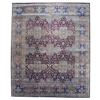Herat Oriental Indo Hand-knotted Vegetable Dye Wool Rug (12'1 x 14'7) - 12'1 x 14'7