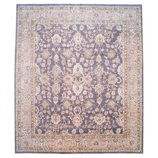 Herat Oriental Afghan Hand-knotted Vegetable-dyed Wool Area Rug (12'4 x 14'2)