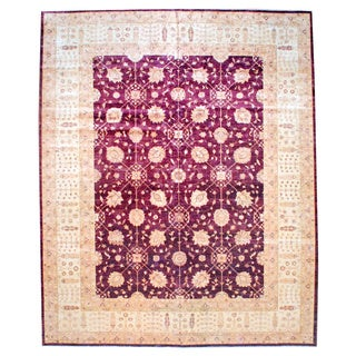Herat Oriental Afghan Hand-knotted Vegetable-dyed Wool Rug (11'9 x 14'6)
