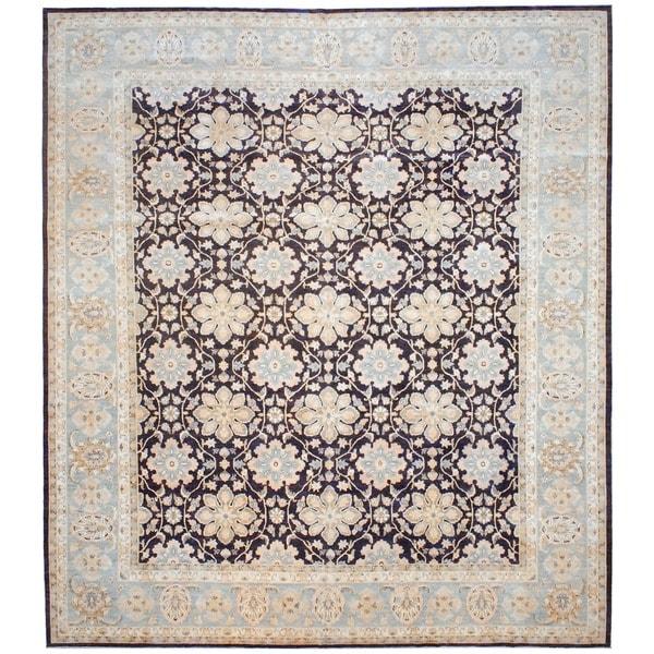 Herat Oriental Afghan Hand-knotted Vegetable Dye Wool Rug (12'1 x 13'9) - 12'1 x 13'9
