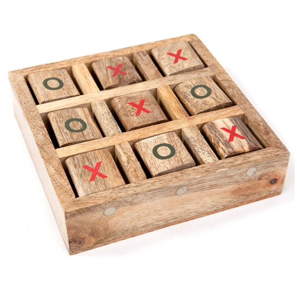 Handmade Wooden-Tic-Tac-Toe Game (India). Opens flyout.