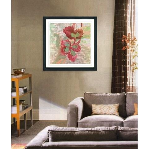 Studio Works Modern 'Red Sophia Flower' Framed Fine Art Giclee Print