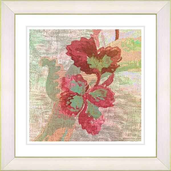 Studio Works Modern 'Red Sophia Flower' Framed Print