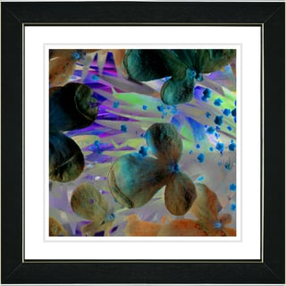Studio Works Modern 'Party Flower - Turquoise' Framed Print