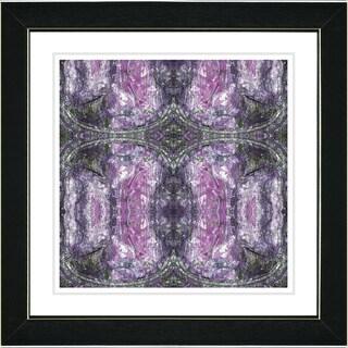 Studio Works Modern 'Purple Celtic Symmetry' Framed Print