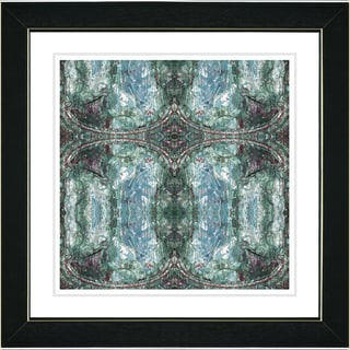 Studio Works Modern 'Turquoise Celtic Symmetry' Framed Print