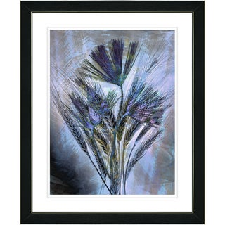 Studio Works Modern 'Blue Harvest' Framed Print