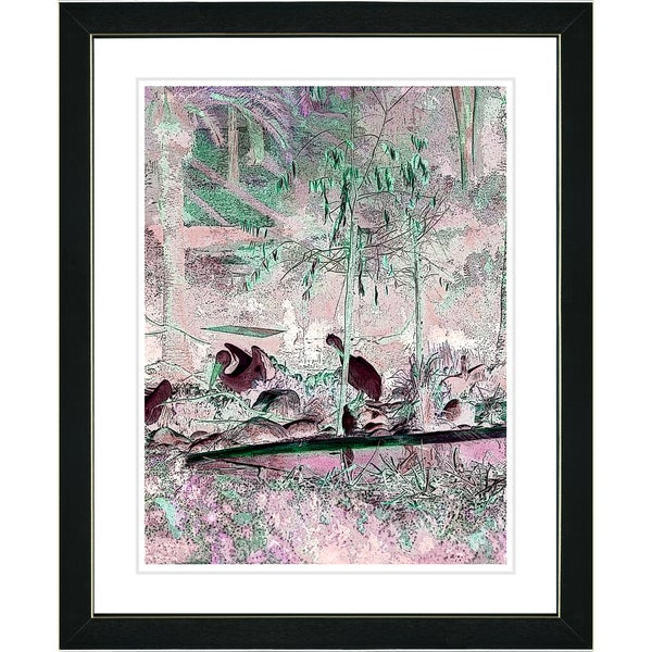 Studio Works Modern 'Pink Pelicans' Framed Print