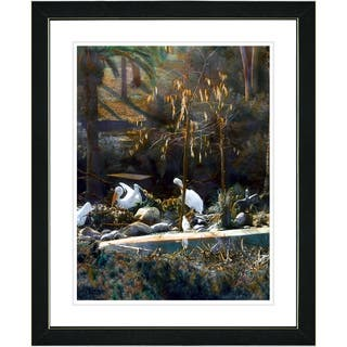 Studio Works Modern 'White Pelicans' Framed Print|https://ak1.ostkcdn.com/images/products/7918570/Studio-Works-Modern-White-Pelicans-Framed-Print-P15296083.jpg?impolicy=medium