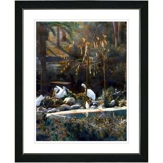 Studio Works Modern 'White Pelicans' Framed Print