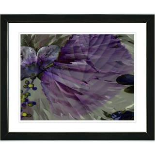 Studio Works Modern 'Dusk of Time Floral - Amethyst' Framed Print