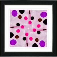 Studio Works Modern 'Pink Origami Star' Framed Print