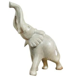 Hand-carved Handmade Soapstone Elephant (Kenya)