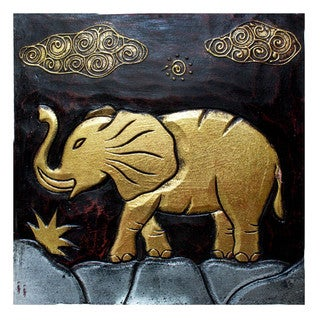 Handmade 'Elephant' Wall Panel (Indonesia)
