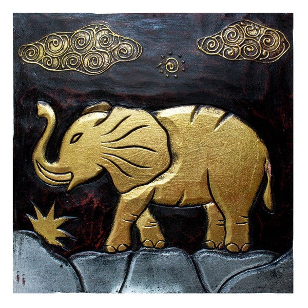 Handmade \'Elephant\' Wall Panel (Indonesia) - Free Shipping On Orders ...