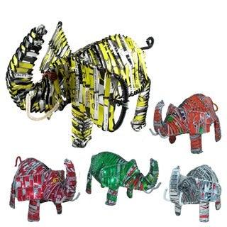 Handmade Elephant Recycled Tin Can (Kenya)