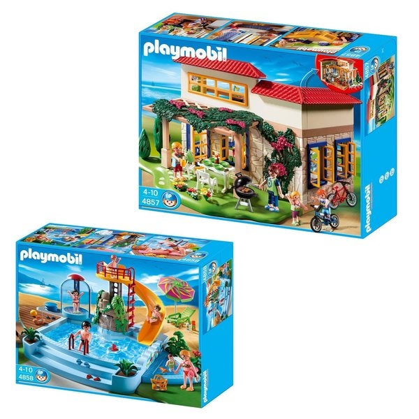 Playmobil Sunshine Home with Open Air Pool with Slide